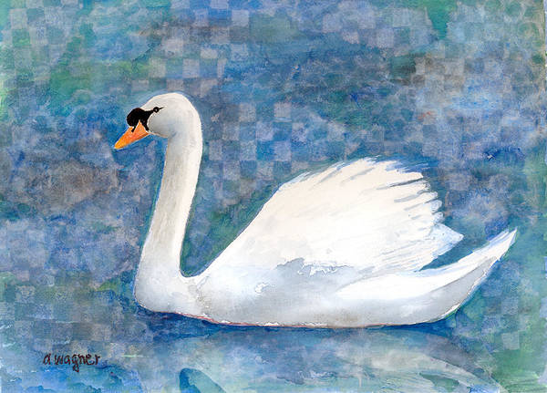 Bird Watercolor Mixed Media - Mute Swan by Arline Wagner