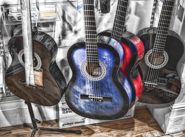 Digital Art - Muted Guitars by Leigh Kemp
