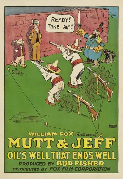 Mutt Drawing - Mutt And Jeff 1919 by Mountain Dreams