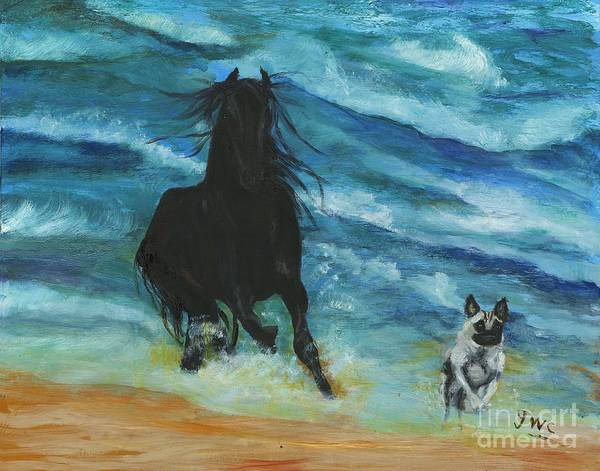 Wall Art - Painting - Mutt And Jeff by Gloria Condon