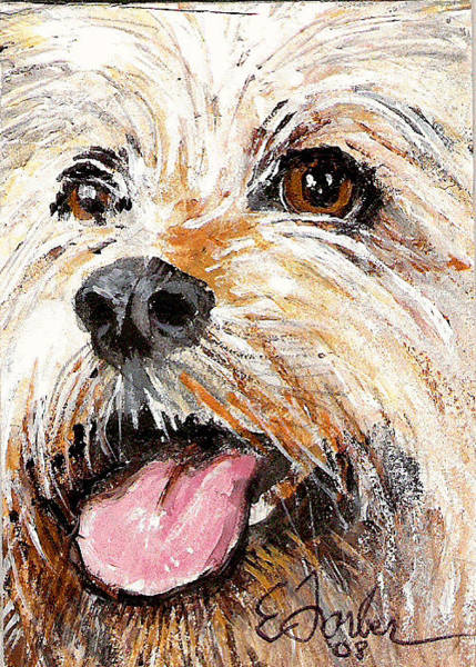 Mutt Painting - Mutt by Edward Farber