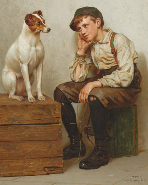 Leash Painting - Mutual Admiration by John George Brown