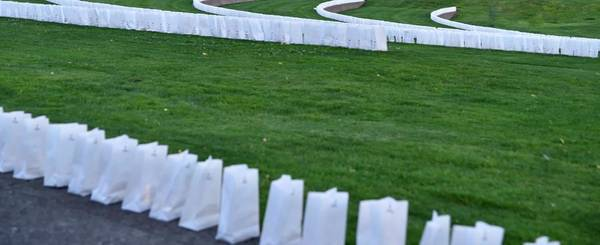 Photograph - Willamette Valley Hospice Luminaries by Jerry Sodorff
