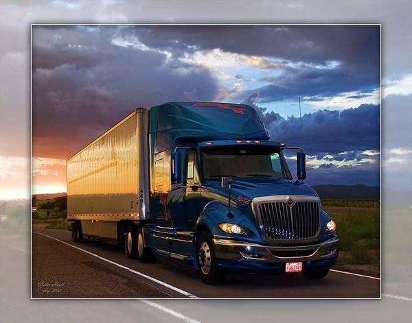 Semi-truck Digital Art - Mvt #11b by Walter Herrit