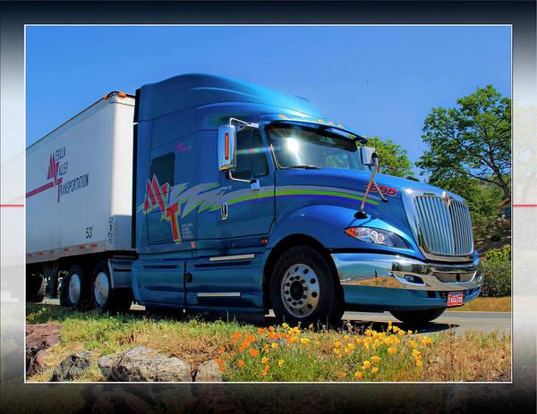 Semi-truck Digital Art - Mvt #1a by Walter Herrit