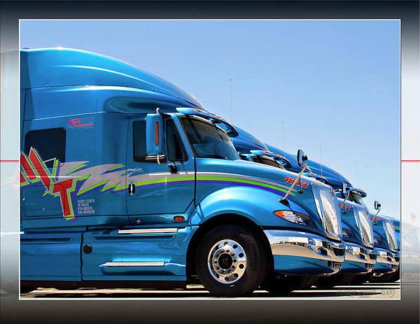 Semi-truck Digital Art - Mvt #3b by Walter Herrit