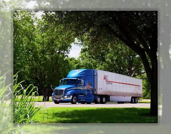 Semi-truck Digital Art - Mvt #4 by Walter Herrit