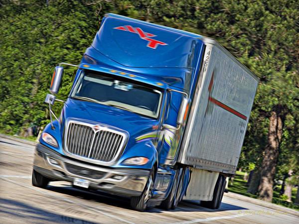 Semi-truck Digital Art - Mvt Soft Oil Photoart_1a by Walter Herrit