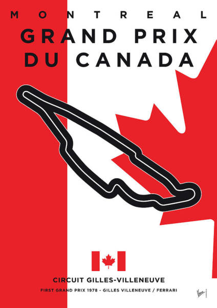 Limited Edition Wall Art - Digital Art - My 2017 Grand Prix De Canada Minimal Poster by Chungkong Art