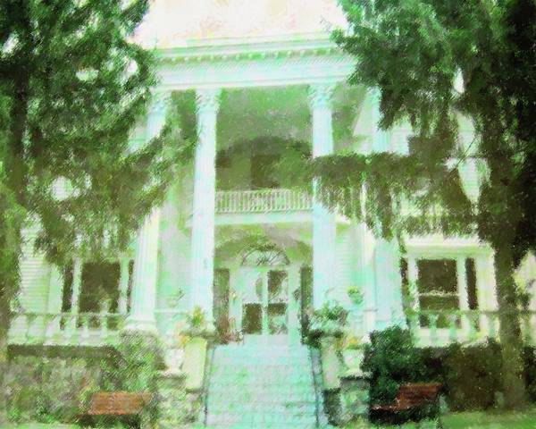 Mansion Mixed Media - My Ashville Home by Florene Welebny