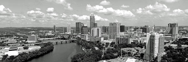 Photograph - My Austin Skyline In Black And White by James Granberry