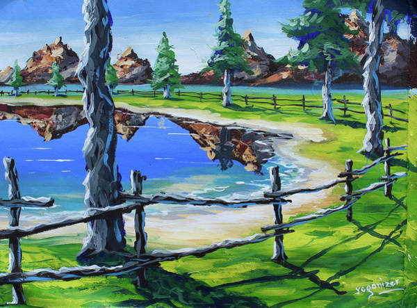Painting - My Backyard by Evans Yegon
