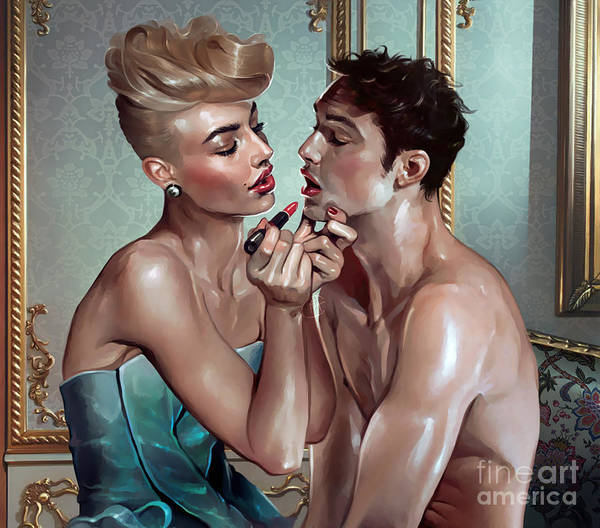 Homo Painting - My Beautiful Lady by Ali Franco