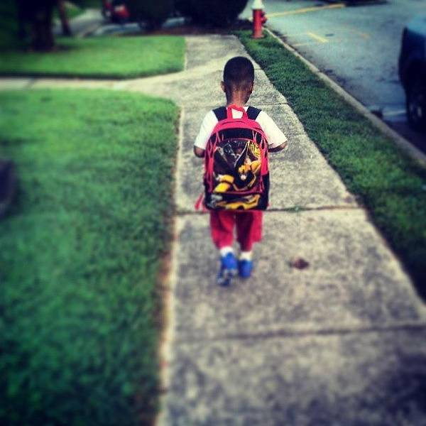 Weapon Photograph - My Big Boy #zion #firstdayofkindergarden by Seductive Weapon