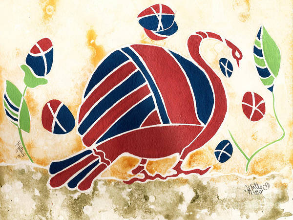 Wall Art - Painting - My Big Fat Greek Goose 2 by Elisabeta Hermann