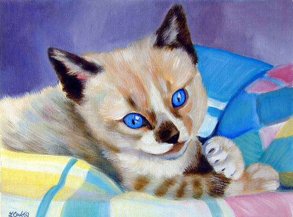 Wall Art - Painting - My Blankie by Lyn Cook