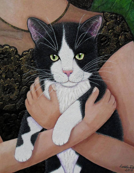Painting - My Cat Friend by Madalena Lobao-Tello