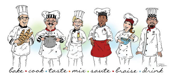 Mixed Media -  My Chefs In A Row-i by Shari Warren