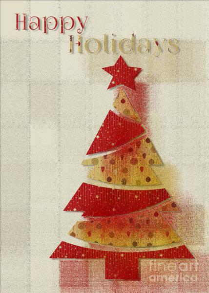 Wall Art - Digital Art - My Christmas Tree 02 - Happy Holidays by Aimelle