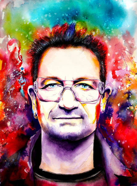 Rattle And Hum Painting - My Colors For Bono by Isabel Salvador