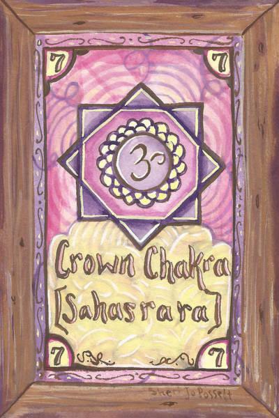 Painting - My Crown Chakra by Sheri Jo Posselt
