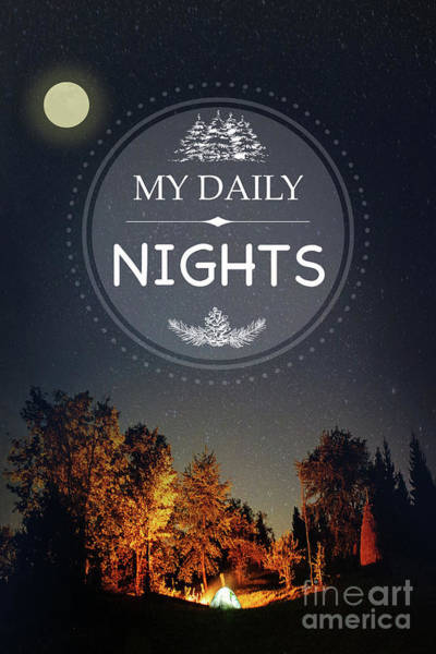 Outdoors Photograph - My Daily Nights by Jean Plout