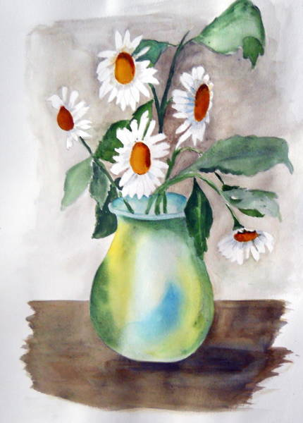 Painting - My Daisies by Audrey Bunchkowski
