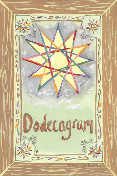 Painting - My Dodecagram by Sheri Jo Posselt