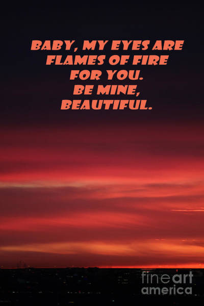 Photograph - My Eyes Are Fire by Donna L Munro