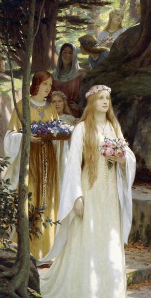 Bridesmaids Painting - My Fair Lady by Edmund Blair Leighton