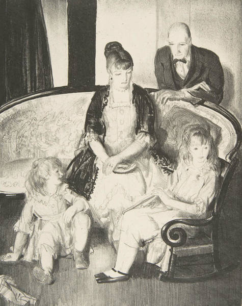 Relief - My Family, Second Stone by George Bellows