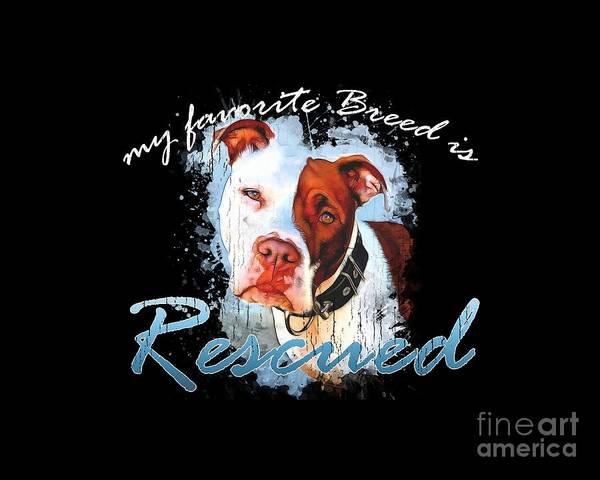 Digital Art - My Favorite Breed Is Rescue Watercolor 3 by Tim Wemple