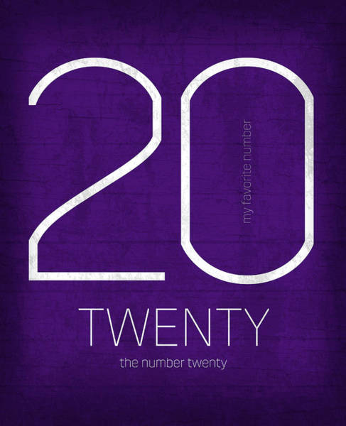 Number Mixed Media - My Favorite Number Is Number 20 Series 020 Twenty Graphic Art by Design Turnpike