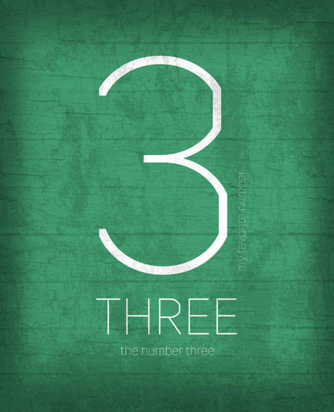 Number Mixed Media - My Favorite Number Is Number 3 Series 003 Three Graphic Art by Design Turnpike