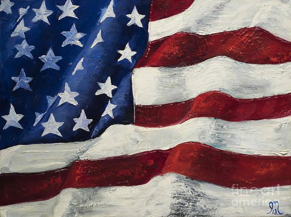 e6ba541b3f1 American Flag Wall Art - Painting - My Flag by Jodi Monahan