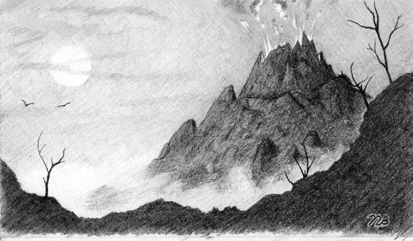 Lava Drawing - My Friend Told Me I Should Draw A Volcano by Nils Bifano