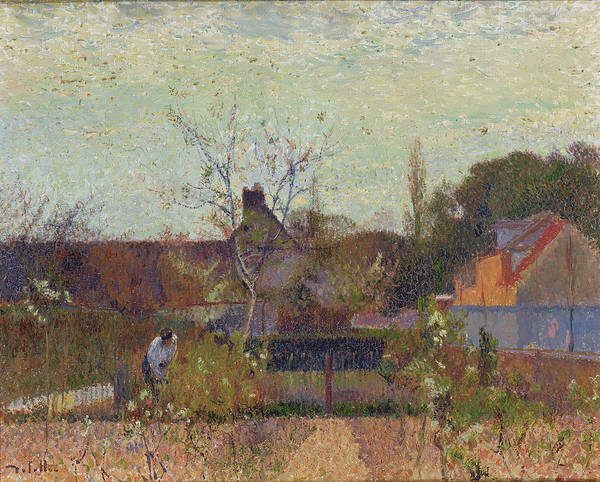 Painting - My Garden In Spring by Joseph Delattre