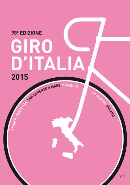 Digital Art - My Giro D'italia Minimal Poster 2015 by Chungkong Art