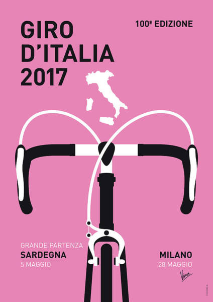 Bike Digital Art - My Giro Ditalia Minimal Poster 2017 by Chungkong Art