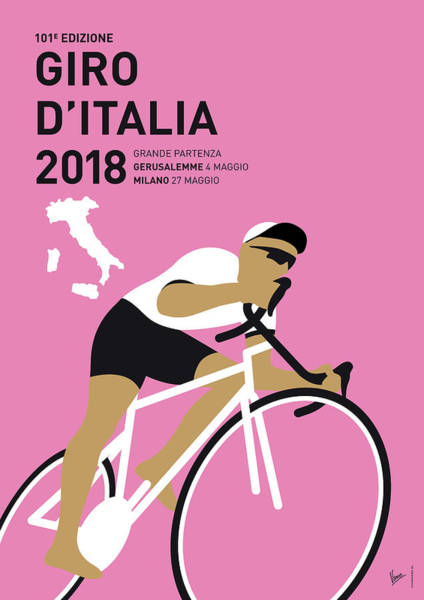 2018 Digital Art - My Giro Ditalia Minimal Poster 2018 by Chungkong Art