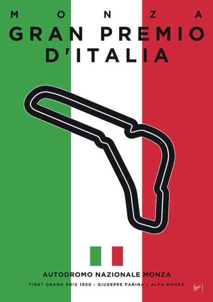 Wall Art - Digital Art - My Gran Premio D Italia Minimal Poster by Chungkong Art