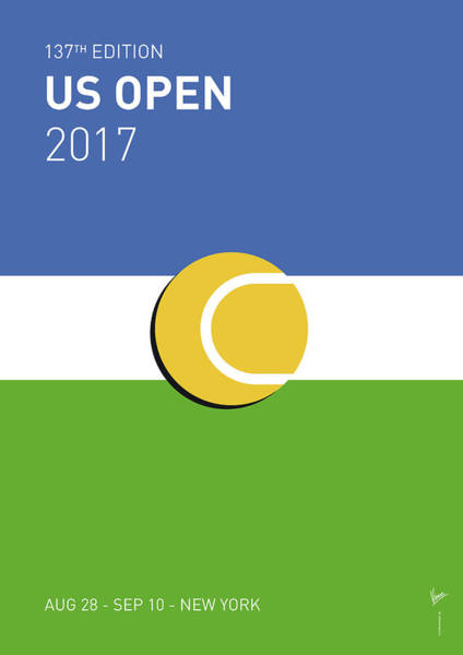 Wall Art - Digital Art - My Grand Slam 04 Us Open 2017 Minimal Poster by Chungkong Art