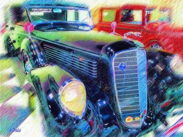 Digital Art - My Grandfather's Parking Lot by Alec Drake