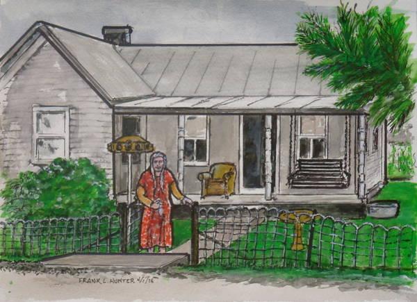Painting - My Grandmother Saying Goodbye At Sardinia Ohio by Frank Hunter