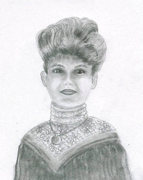 Hairdo Drawing - My Grandmother by Terralyn Dickerman
