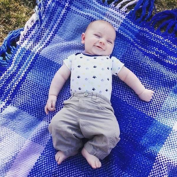 Photograph - My Grandson Roland, Almost 3 Months by Melissa Abbott