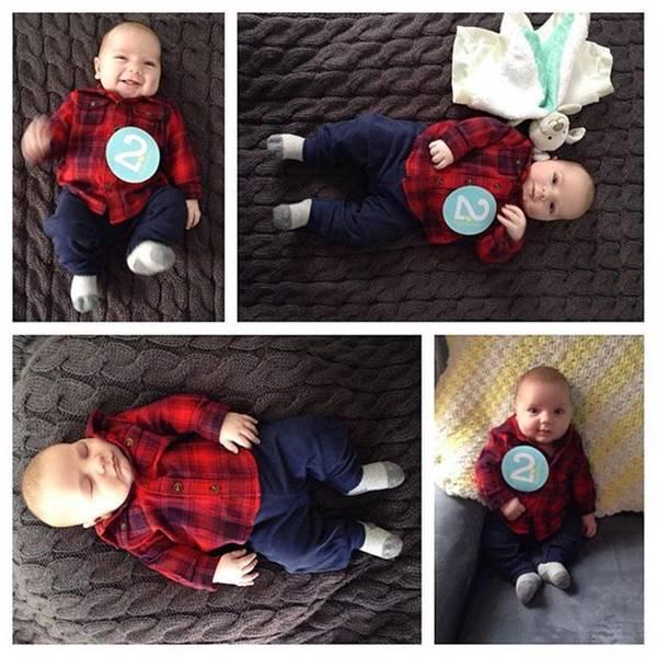 Photograph - My Grandson Roland At 2 Months Old by Melissa Abbott