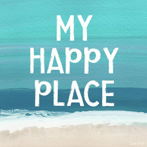 Wall Art - Mixed Media - My Happy Place Beach- Art By Linda Woods by Linda Woods