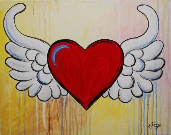 Painting - My Heart Has Wings by Emily Page