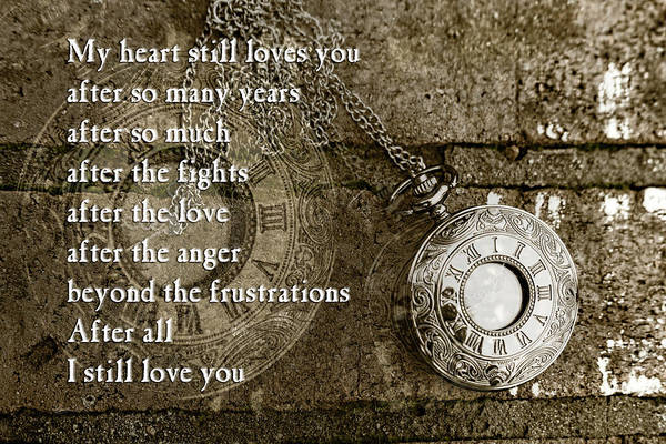 Photograph - My Heart Still Love You by Sharon Popek